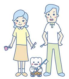 小さなお子様連れのママさん、パパさんも安心して治療が受けられます!